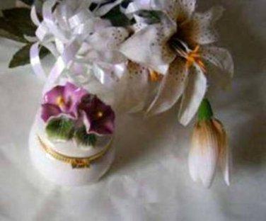 3660 Morning Glory Floral Trinket Box