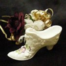3781 Fenton Pansies on Embossed Roses Slipper