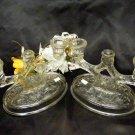 890 McKee Rock Crystal Two Light Candle Holder Set