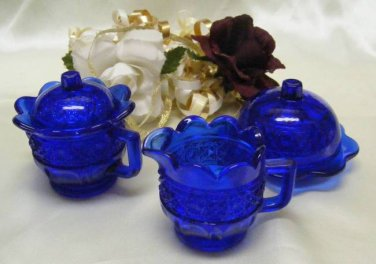 0192CO Cobalt Blue Hawaii Lei Childs Set