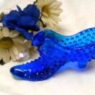 3166 Degenhart Colonial Blue Hobnail Cat Slipper