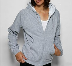 American Apparel 5452 Medium Heather Grey/White