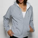 American Apparel 5452 Large Heather Grey/White