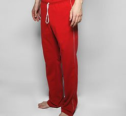 American Apparel 5449 Extra Small Red/White Track Pants