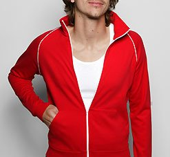 American Apparel 5455 Medium Red/White