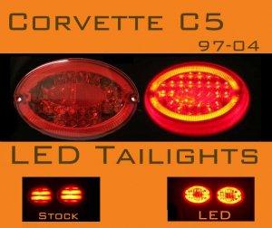 Corvette C5 LED Tail lights 97-04 ORIGINAL VERSION