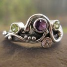 Wild Garden Mother's Ring . customized mother's ring in sterling silver and birthstones