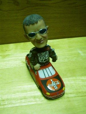 Dale Jarrett & Coke Car Bobblehead
