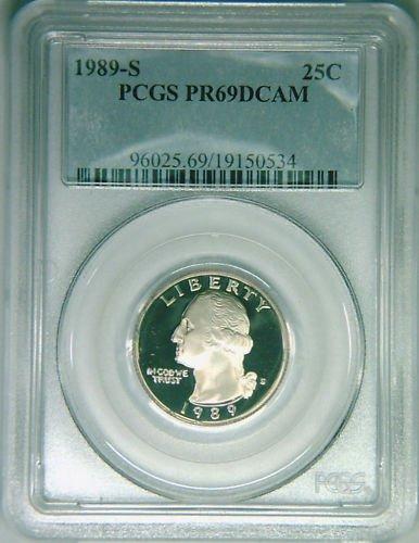 1989S Washington quarter PCGS PR69DCAM proof deep cameo