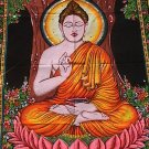 Shakyamuni Buddha Wall Hanging Cotton Buddhist Tapestry Meditation Decor India Tibet Decoration Art