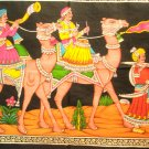 Ethnic Indian Large Camel Tapestry Sequin Wall Hanging Vintage Rajasthani Decoration India Art