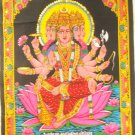Hindu Goddess Gayatri Mantra  Wall Hanging  Sequin Tapestry Ethnic Decor Art India