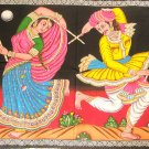 Rajasthan Folk Dance  Large Cotton Tapestry Wall Hanging Ethnic Home Decor Sequin Vintage Art India