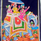 Large Cotton Indian Wall Hanging  Sequin Tapestry Mughal Ethnic Home Decor Vintage Art India