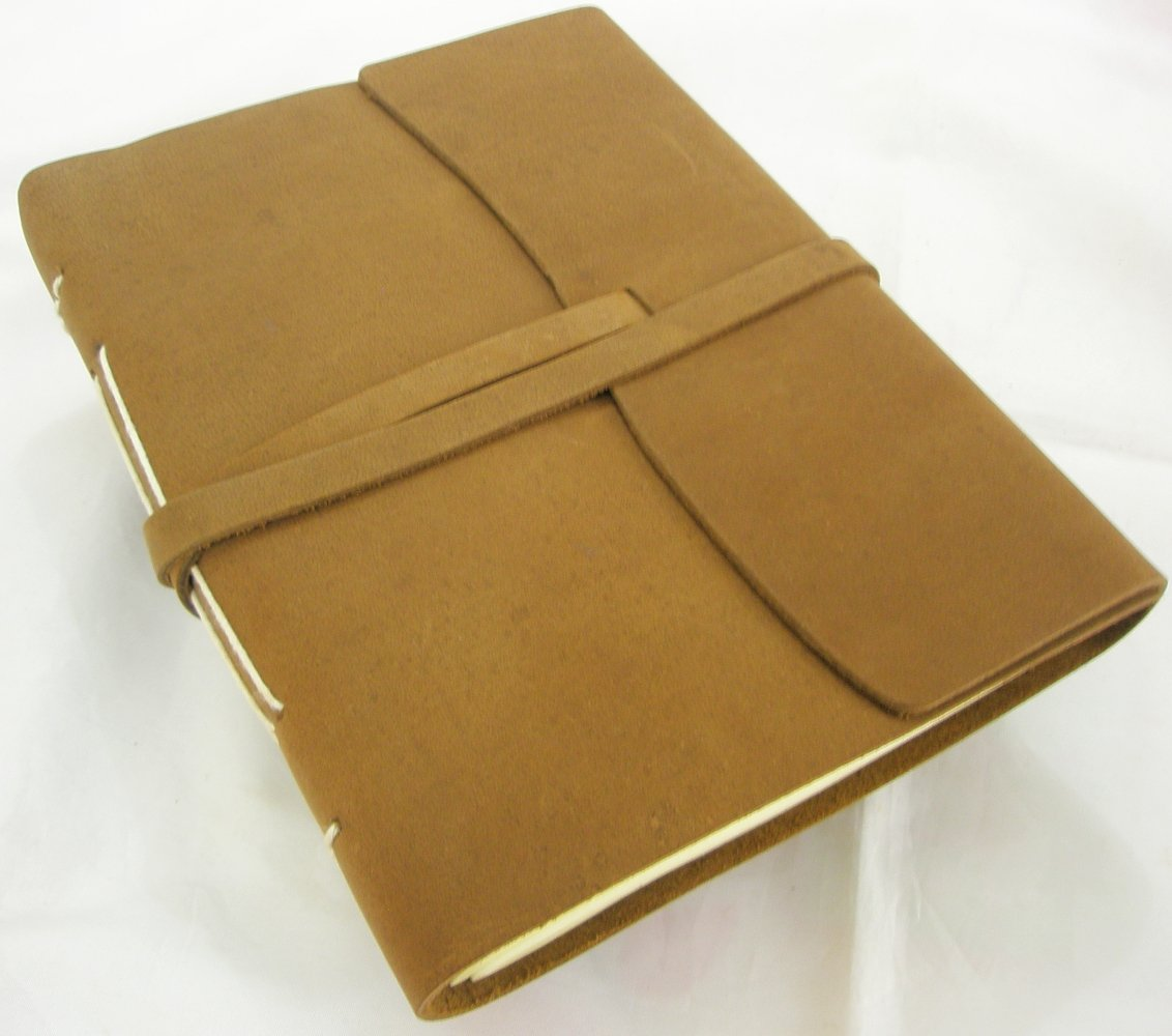 Rugged Handmade Paper Leather Bound Journal Writing Notebook Blank Vintage Art Sketchbook