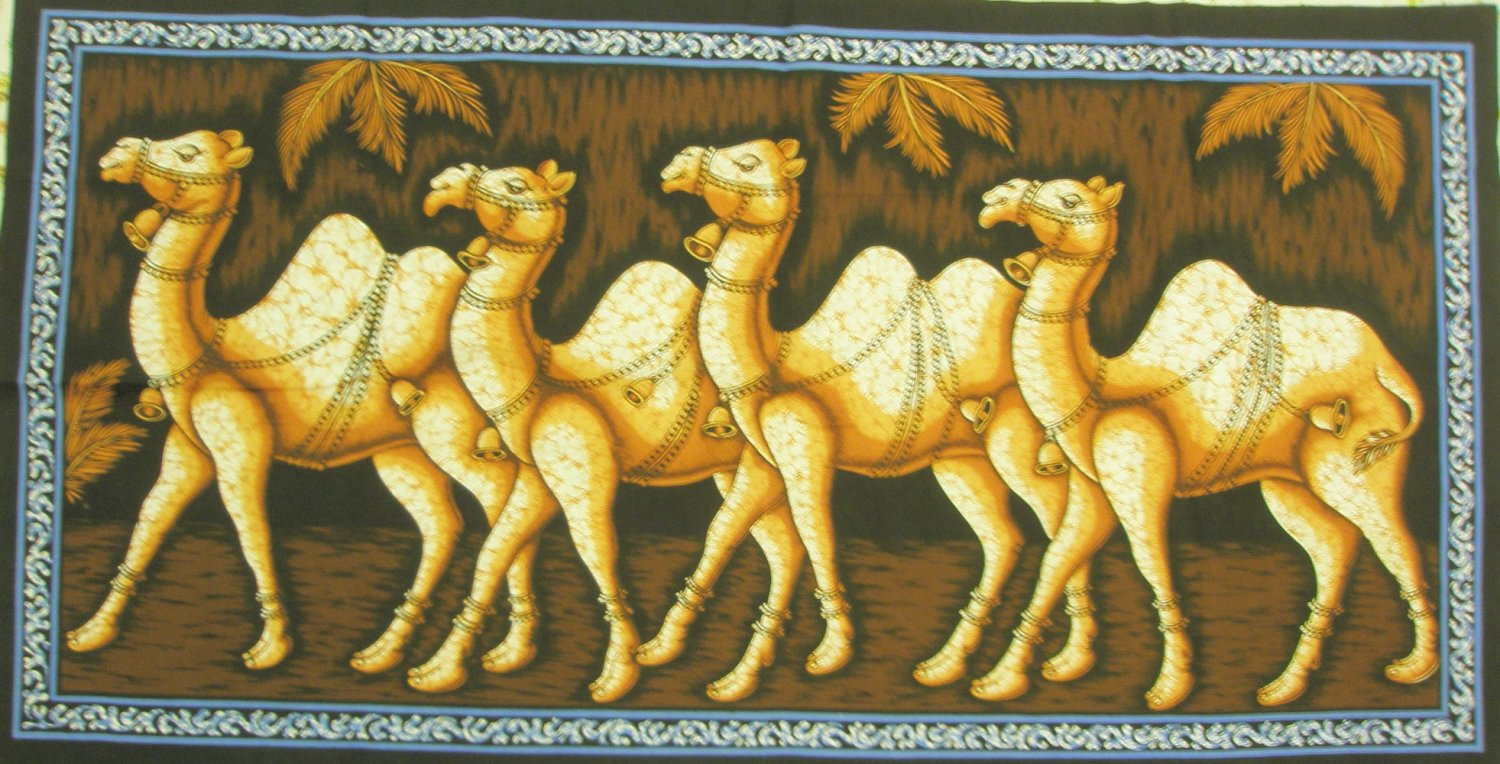 Rajasthan Camel Batik  Cotton Cloth Wall Hanging Indian Tapestry Ethnic India vintage Home Decor