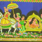 Mughal Procession Indian Wall Hanging Large Sequin Tapestry India Ethnic Home Decor Vintage Art