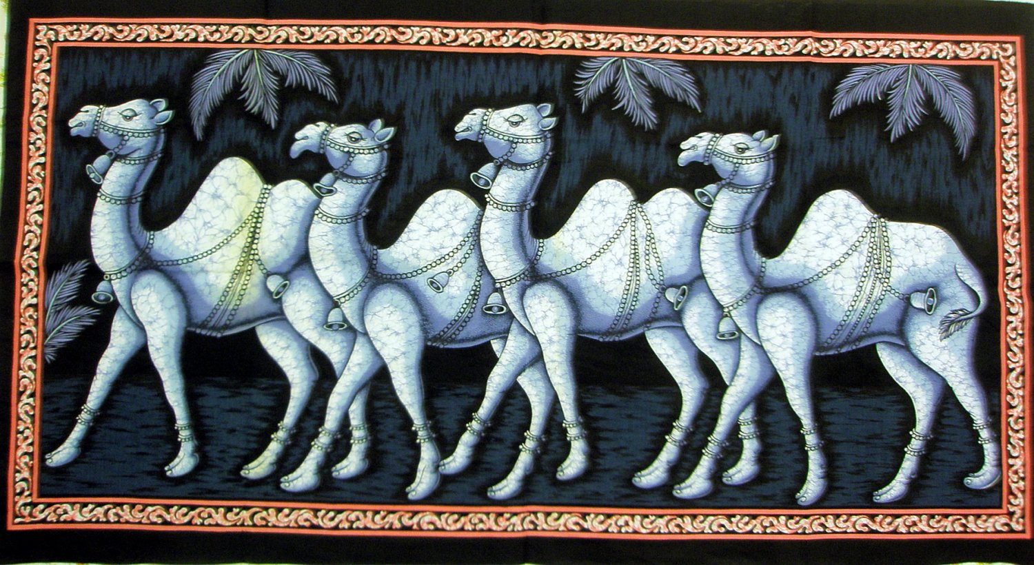 Camel Batik Cotton Cloth Wall Hanging Decor Indian Tapestry Ethnic India Home Decoration Art