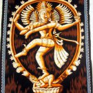 Batik Dancing Shiva Nataraja Wall Hanging Decor Cotton Large Tapestry India Ethnic Vintage Art