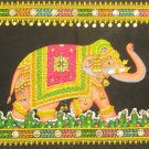 Decorated Indian Elephant Tapestry Sequin Wall Hanging Decor Art Ethnic Home Decoration India