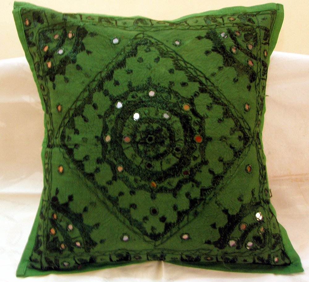 Embroidered Ethnic Indian Cushion Covers Decorated Toss Pillows