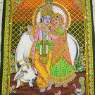 Hindu Radha Krishna Wall Hanging Indian Sequin Large Tapestry Ethnic India Wall Decor Art
