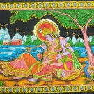 Krishna Radha Wall Hanging Indian Sequin Large Tapestry Ethnic India Home Decor Vintage Wall Art