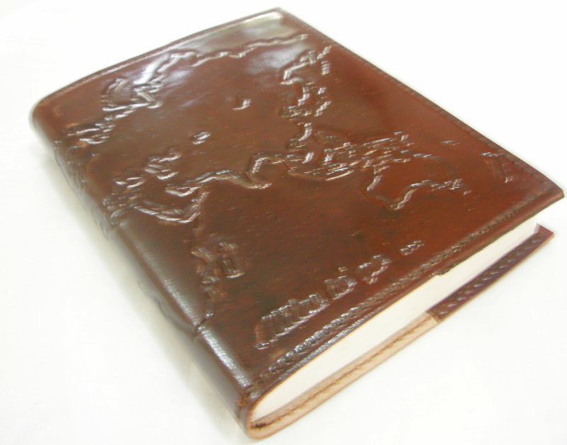 Handmade Leather Journal Brown Refillable Writing Notebook Blank World Traveler Personalized Diary