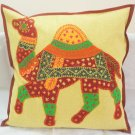 Indian Animal Cushion Pillow Toss Covers Sofa Throw Ethnic Embroidered Patchwork Decor Art