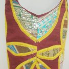 Handcrafted Cross body Shoulder Sling Bag Fabric Vintage Sequin Hippie Boho Indian Retro Gypsy
