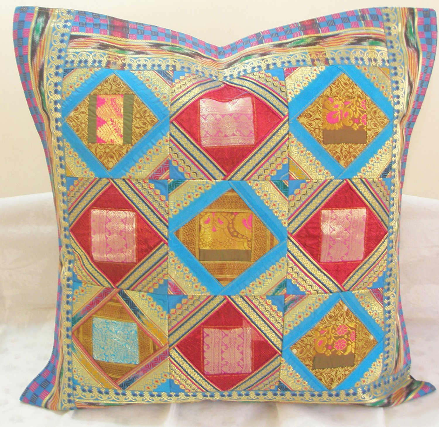 Handmade Patchwork Extra Large Cushion Toss Pillow Covers Sofa Couch