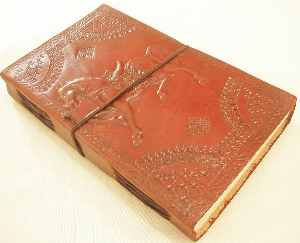 Handcrafted Horse Embossed Brown Leather Bound Journal Vintage Diary Writing Notebook Art Sketchbook