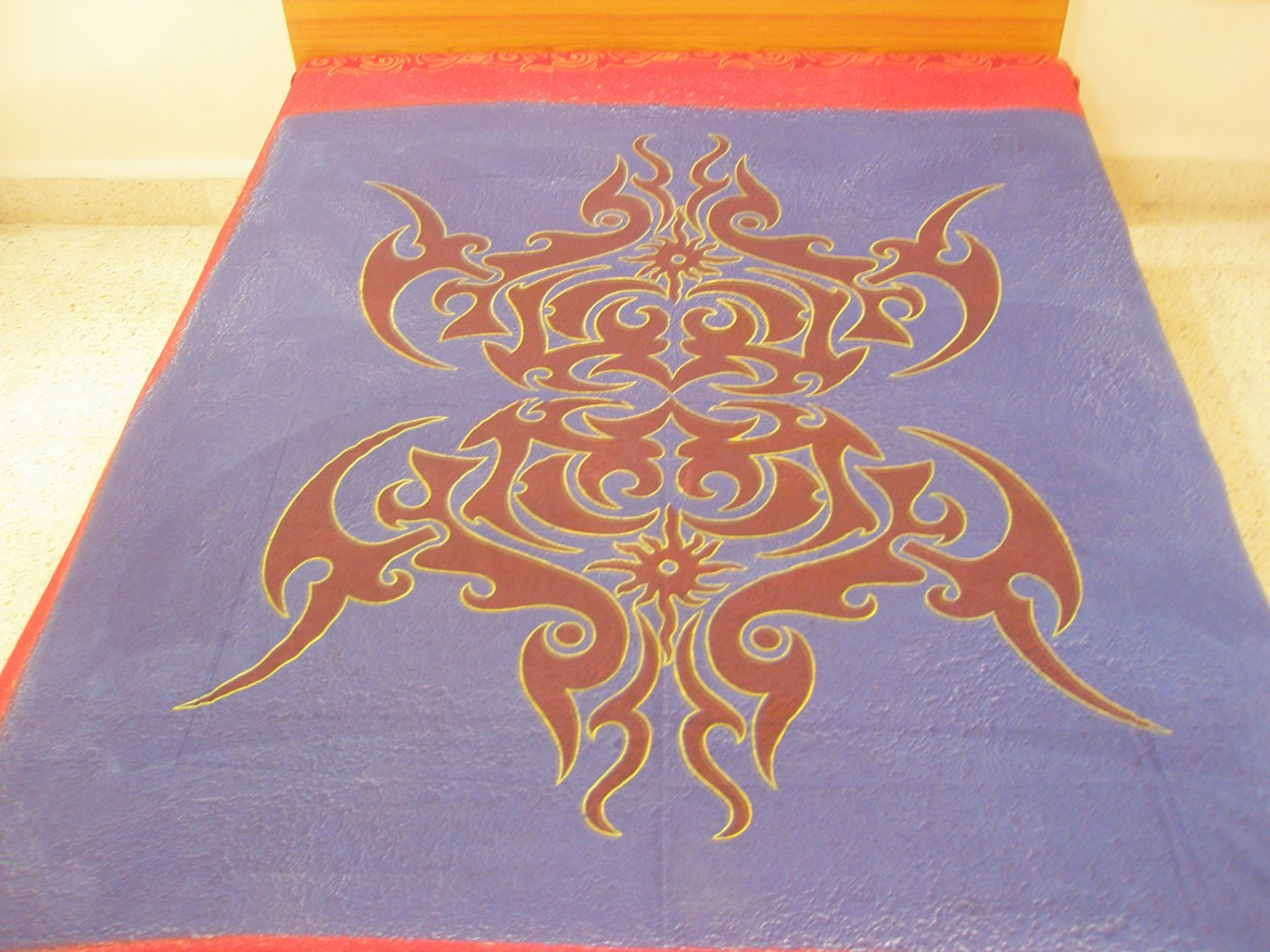 Celtic Knot Cotton Print Bedspread Large Tapestry Wall Decor Hippy Pagan Throw Sofa Beach Blanket