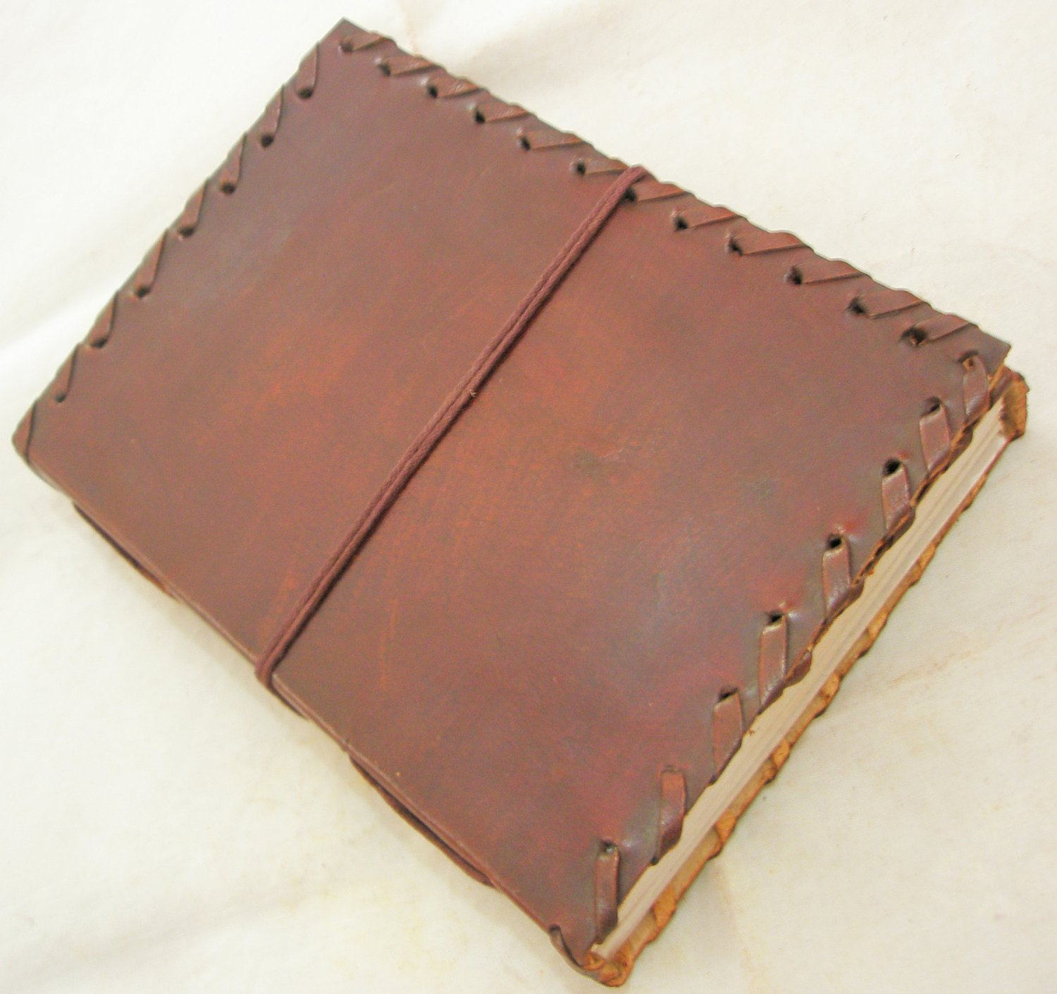 Handmade Paper Leather Bound Journal Blank Book Personal Diary Writing Notebook Sketchbook Art