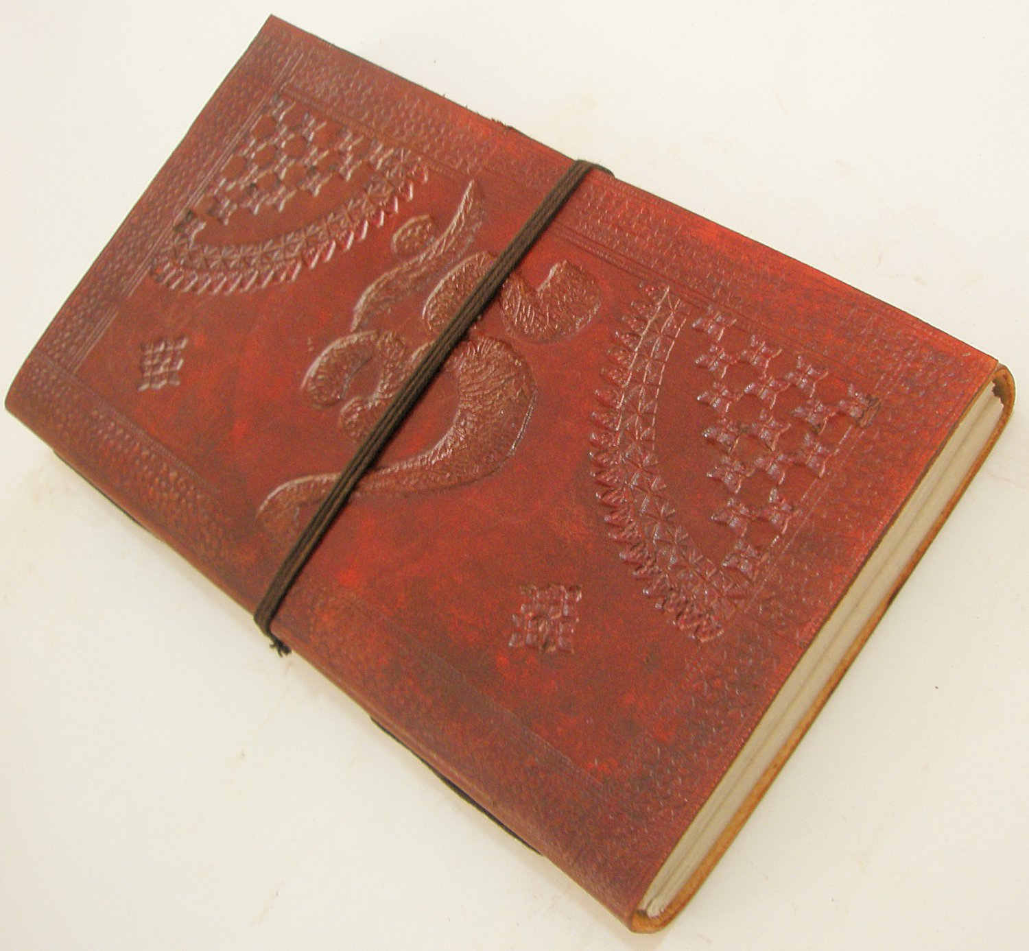 Handcrafted OM Embossed Natural Paper Leather Journal Vintage Diary Writing Notebook Art Sketchbook