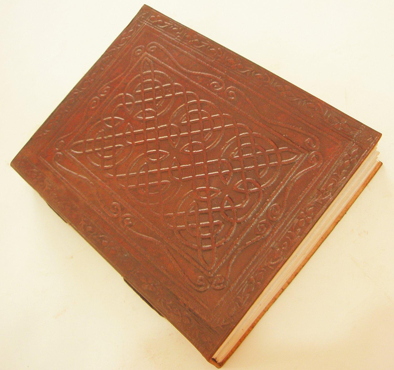 Handmade Embossed Celtic Leather Bound Journal Blank Vintage Diary Sketchbook Writing Notebook
