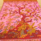 Tree of Life Indian Cotton Bedspread Queen Sofa Throw Large Celtic Wall Tapestry Home Decoration