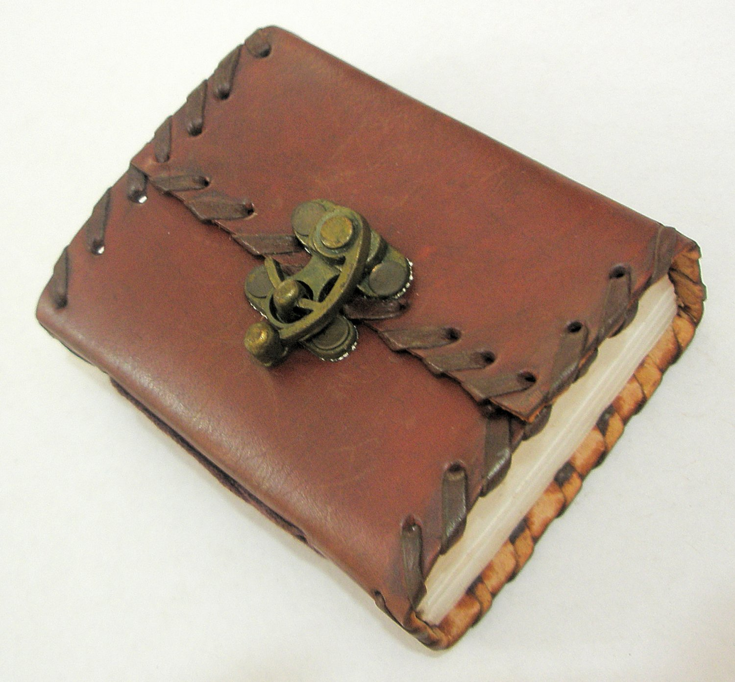 Handmade Paper Rustic Leather Mini Pocket Journal Blank Vintage Diary Writing Notebook