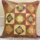 24 Inch Extra Large Ethnic Patchwork Indian Cushion Pillow Covers Sofa Couch Throw Vintage Decor