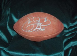 Autographed Emmitt Smith Football