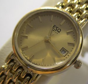 ESQ by MOVADO Ladies SWISS Quartz 5J GOLD Watch $695 NR