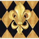 Black and Gold Fleur de Lis Mouse Pad 8125MP