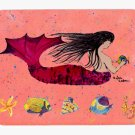 Black Haired Mermaid Mouse Pad Hot pad trivet 8338MP