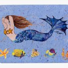 Brunette Mermaid Mouse Pad Hot pad trivet 8337MP