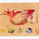 Red Headed Mermaid Mouse Pad Hot pad trivet 8339MP