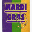 Mardi Gras with beads Mouse Pad Hot pad trivet 8363MP