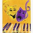 Mardi Gras  Comedy Tragedy Piano Keyboard with beads Mouse Pad Hot pad trivet 8367MP