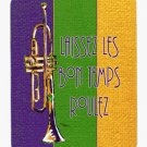 Mardi Gras Trumpet  Mouse Pad Hot pad trivet 8372MP
