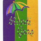 Mardi Gras Umbrella Mouse Pad Hot pad trivet 8373MP