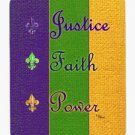 Mardi Gras Justice Faith Power Mouse Pad Hot pad trivet 8374MP
